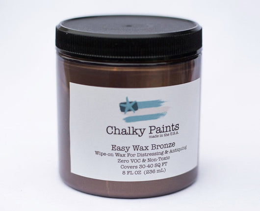 Bronze Tinted Easy Wax 8 oz. - Chalky Paints & Finishes