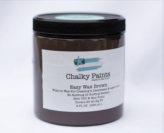 Brown Tinted Easy Wax 8 oz. - Chalky Paints & Finishes
