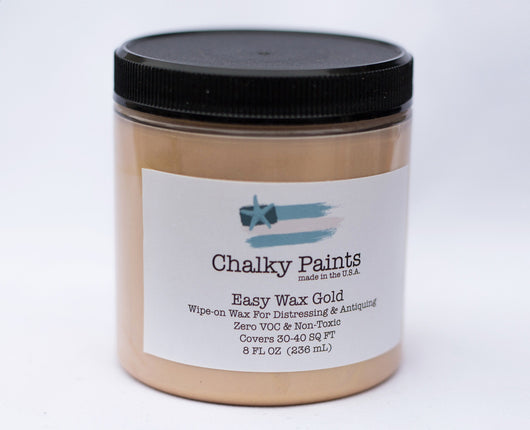 Gold Tinted Easy Wax 8 oz. - Chalky Paints & Finishes