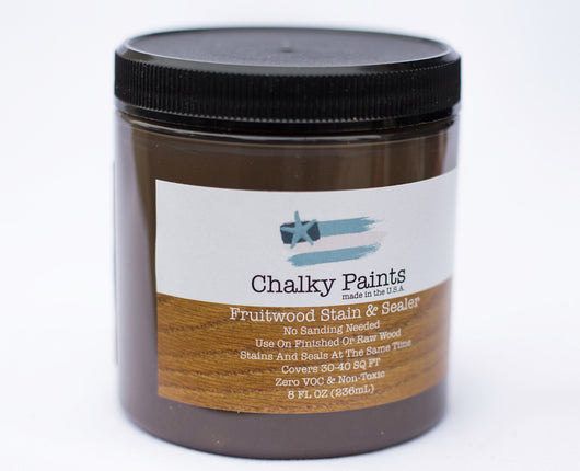 Fruitwood Stain & Sealer 8 oz. - Chalky Paints & Finishes