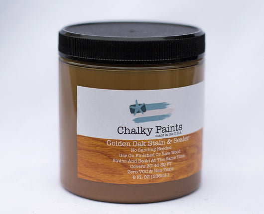 Golden Oak Stain & Sealer 8 oz. - Chalky Paints & Finishes