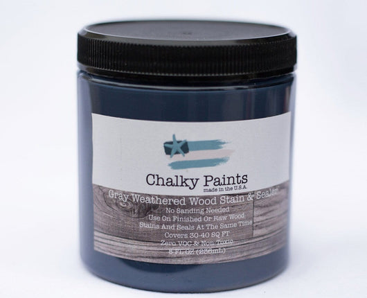 Weathered Wood Gray Stain & Sealer 8 oz. - Chalky Paints & Finishes