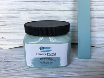 Aquamarine Chalky Paint 16 oz. Covers 75 sq ft! - Chalky Paints & Finishes