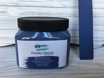 Barnacle Blue Chalky Paint 16 oz. Covers 75 sq ft! - Chalky Paints & Finishes