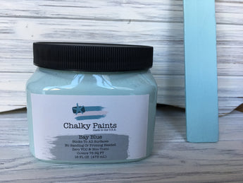 Bay Blue Chalky Paint 16 oz. Covers 75 sq ft!