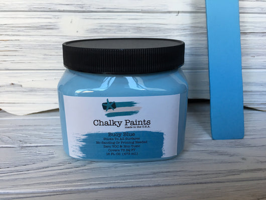 Buoy Blue Chalky Paint Covers 75 sq. ft! - Chalky Paints & Finishes