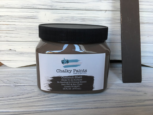 Coconut Shell Chalky Paint 16 oz. Covers 75 sq ft!