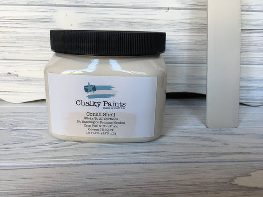 Conch Shell Chalky Paint 16 oz. Covers 75 sq ft! - Chalky Paints & Finishes