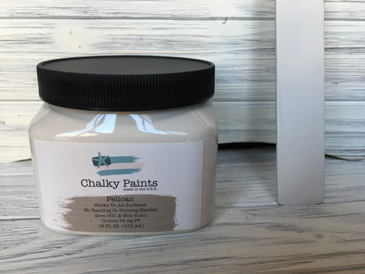 Pelican Chalky Paint 16 oz. Covers 75 sq ft!