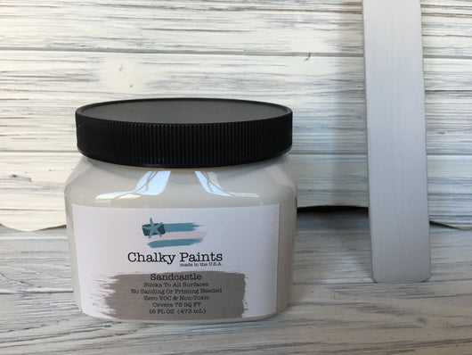 Sandcastle Chalky Paint 16 oz. Covers 75 sq ft! - Chalky Paints & Finishes