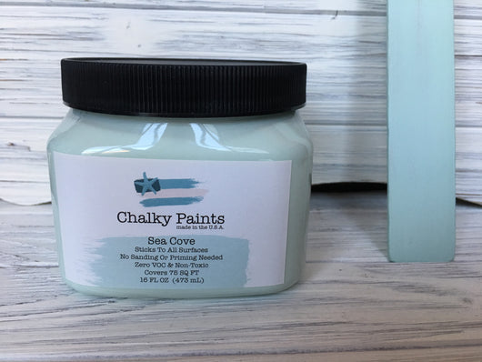 Sea Cove Chalky Paint 16 oz. Covers 75 sq ft! - Chalky Paints & Finishes