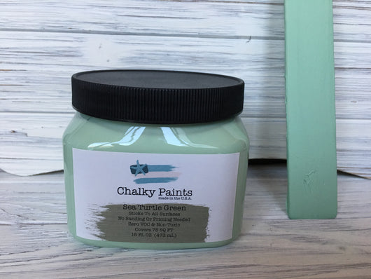 Sea Turtle Chalky Paint 16 oz. Covers 75 sq ft! - Chalky Paints & Finishes