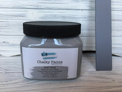 Seal Gray Chalky Paint 16 oz. Covers 75 sq ft! - Chalky Paints & Finishes