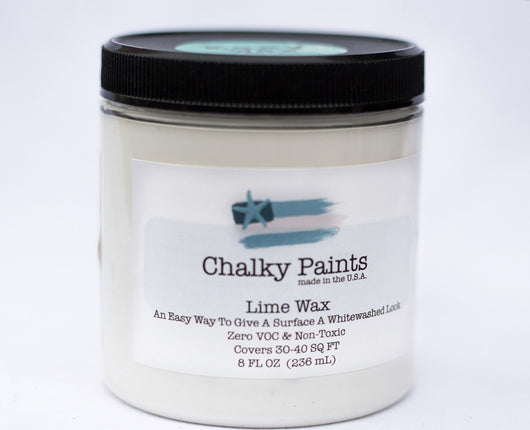 Lime Wax 8 oz. - Chalky Paints & Finishes