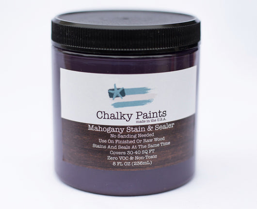 Mahogany Stain & Sealer 8 oz. - Chalky Paints & Finishes