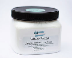Marine Varnish Low Sheen 16 oz. - Chalky Paints & Finishes