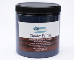 Walnut Stain & Sealer 8 oz. - Chalky Paints & Finishes
