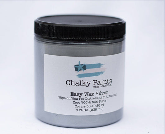 Silver Easy Wax 8 oz. - Chalky Paints & Finishes