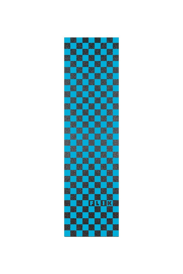 delta pro scooters flik griptape - blue/black checkers