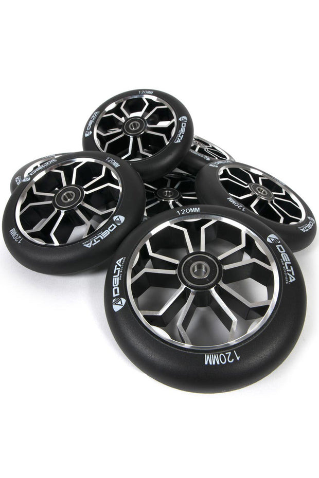 delta pro scooters mach one 120mm wheels - custom spoke group