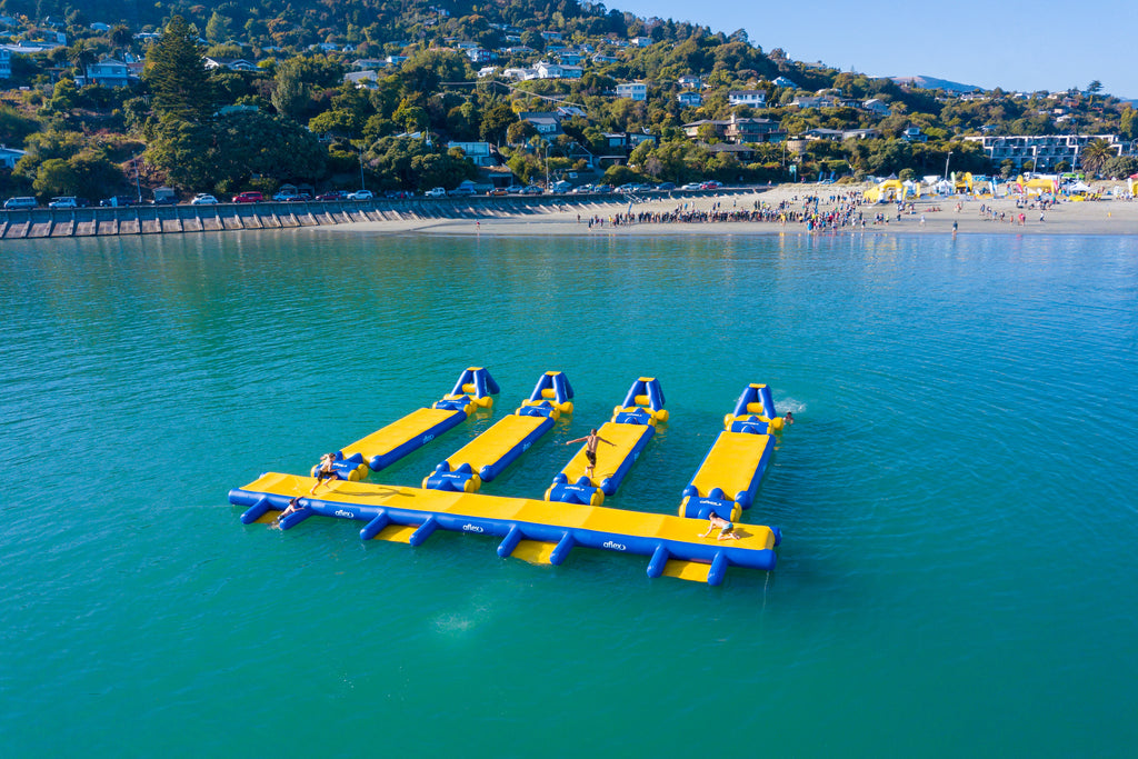 Aflex Inflatables at the Big Tahuna Ocean Swim