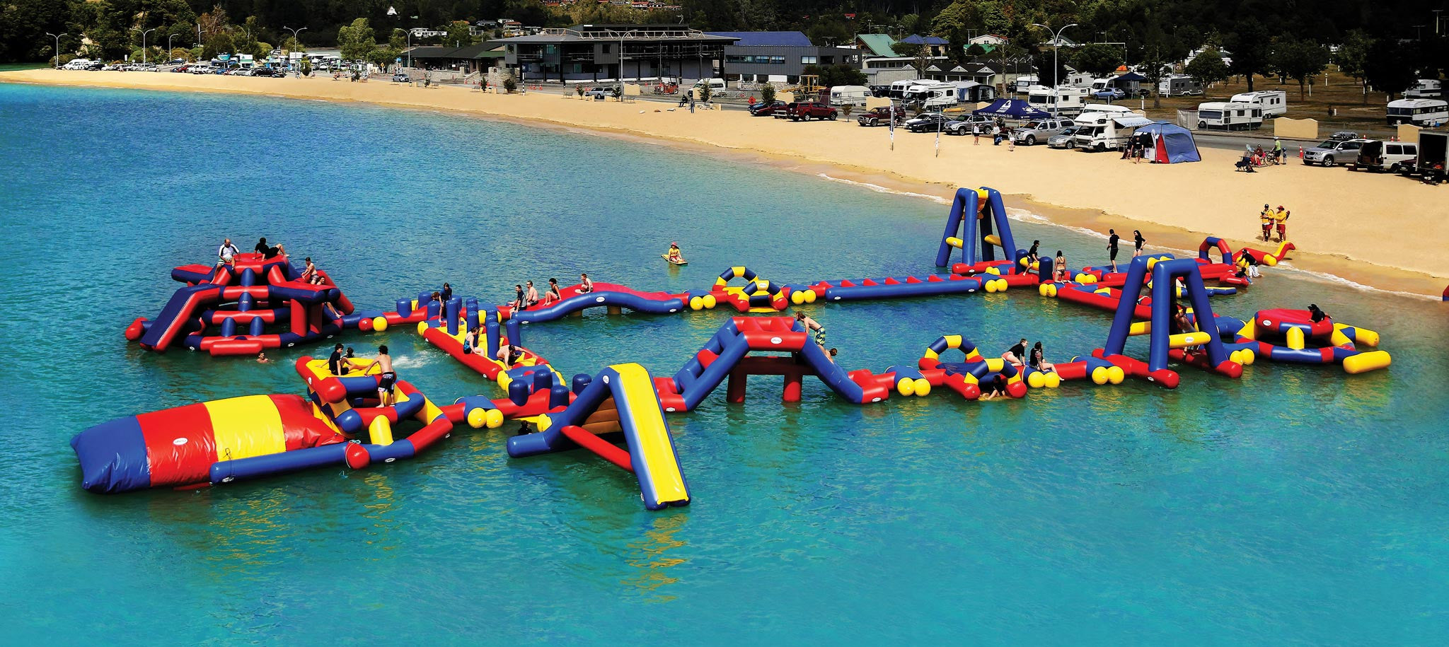 Commercial Inflatable Waterpark Aflex Aqua Adventure