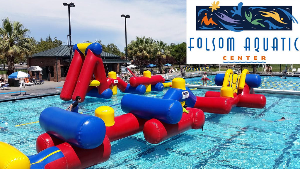 Commercial Pool Inflatables Folsom Aquatic Center - Made by Aflex Technology NZ