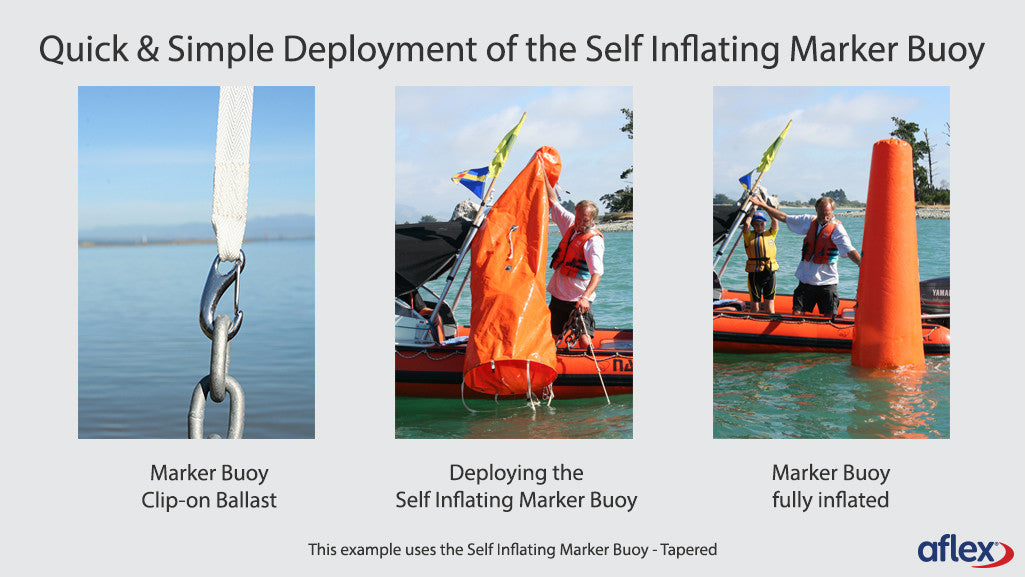 Tapered - Self Inflating Marker Buoy - Marine Innovations - Aflex Technology
