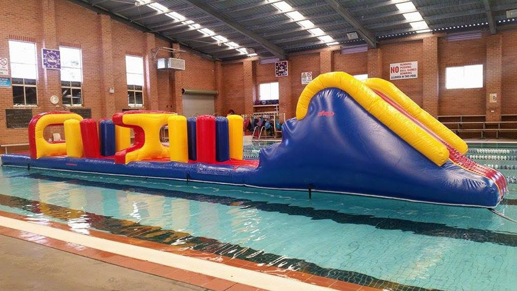 Aqua Biff Bash - Commercial Pool Obstacle Courses - Aflex Technology