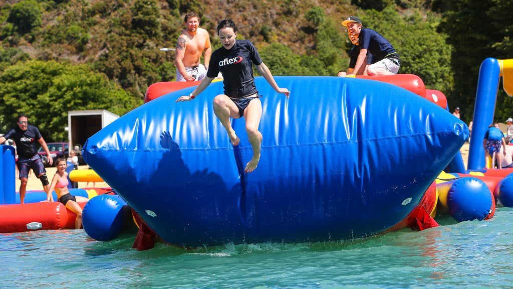 Open Water Inflatable Aqua Park - Blob Drop (Bounce Pillow) - Aflex Technology