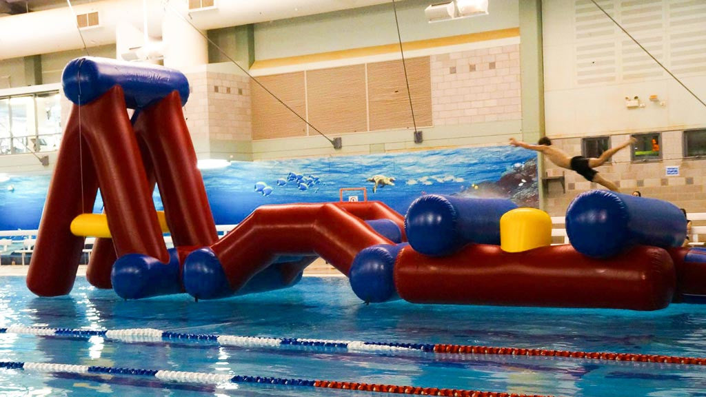 Climb & Swing - Commercial Pool Obstacle Courses - Aflex Technology