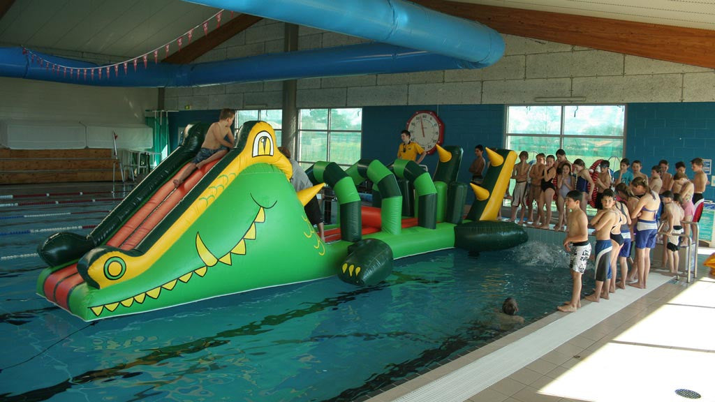 Crocodile Junior - Commercial Pool Inflatable - Constant Airflow Obstacle Courses - Aflex Technology