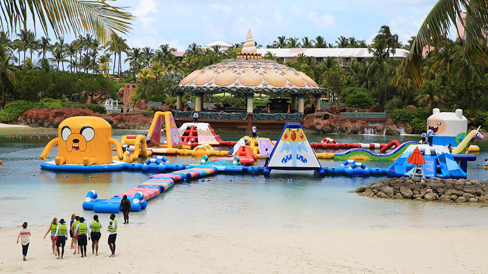 Open Water Inflatable Waterparks - Aflex Technology - Custom Design Inflatable Waterpark