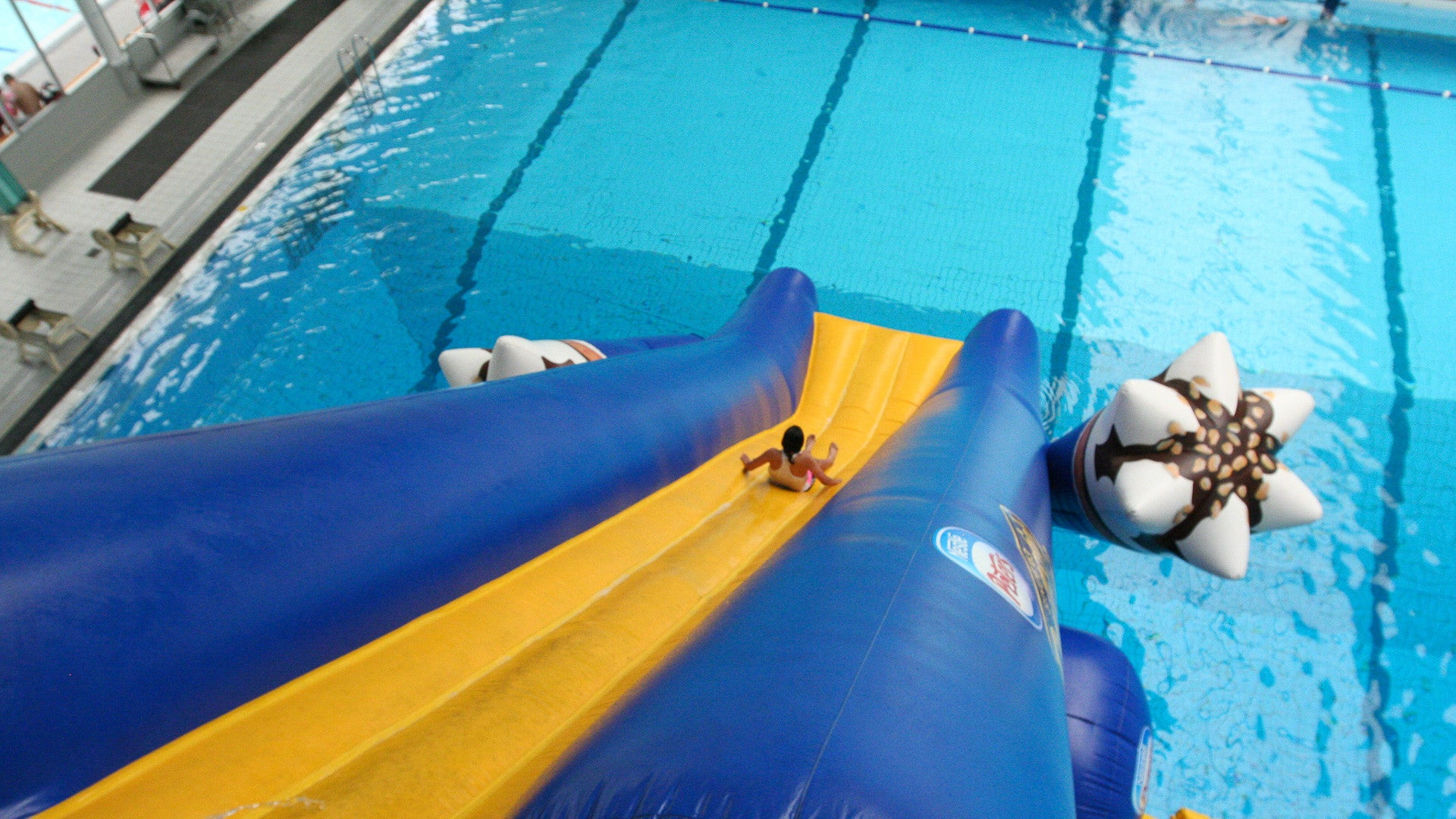Custom Branded Slides - Pool Slides - Aflex Technology