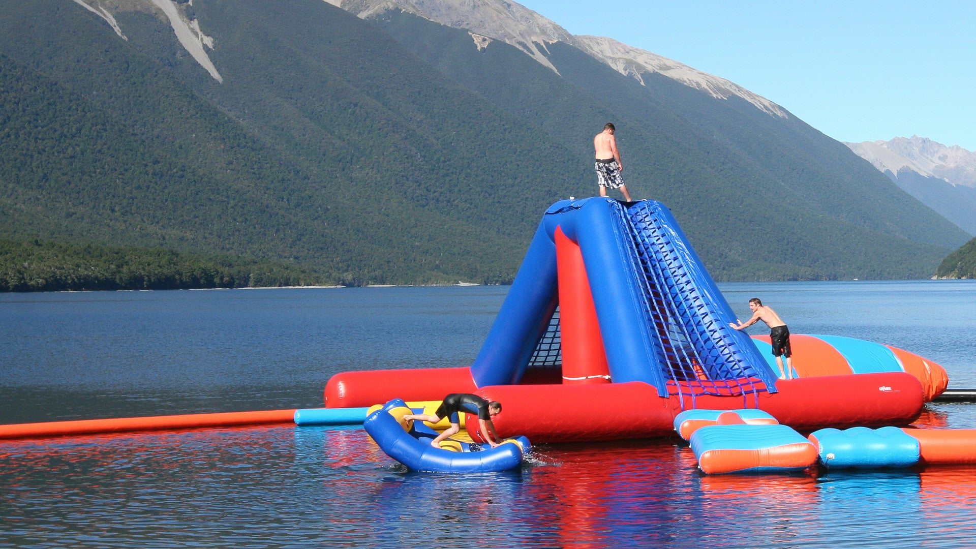 Open Water Inflatable Aqua Park - Drop Zone Tower - Aflex Technology