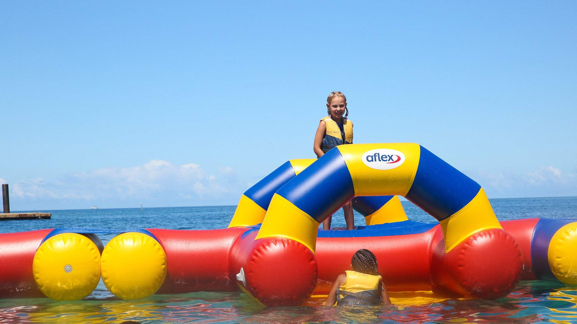 Aqua Adventure 'Chillout Zone' Inflatable Waterpark - Open Water Aqua Adventure - Aflex Technology