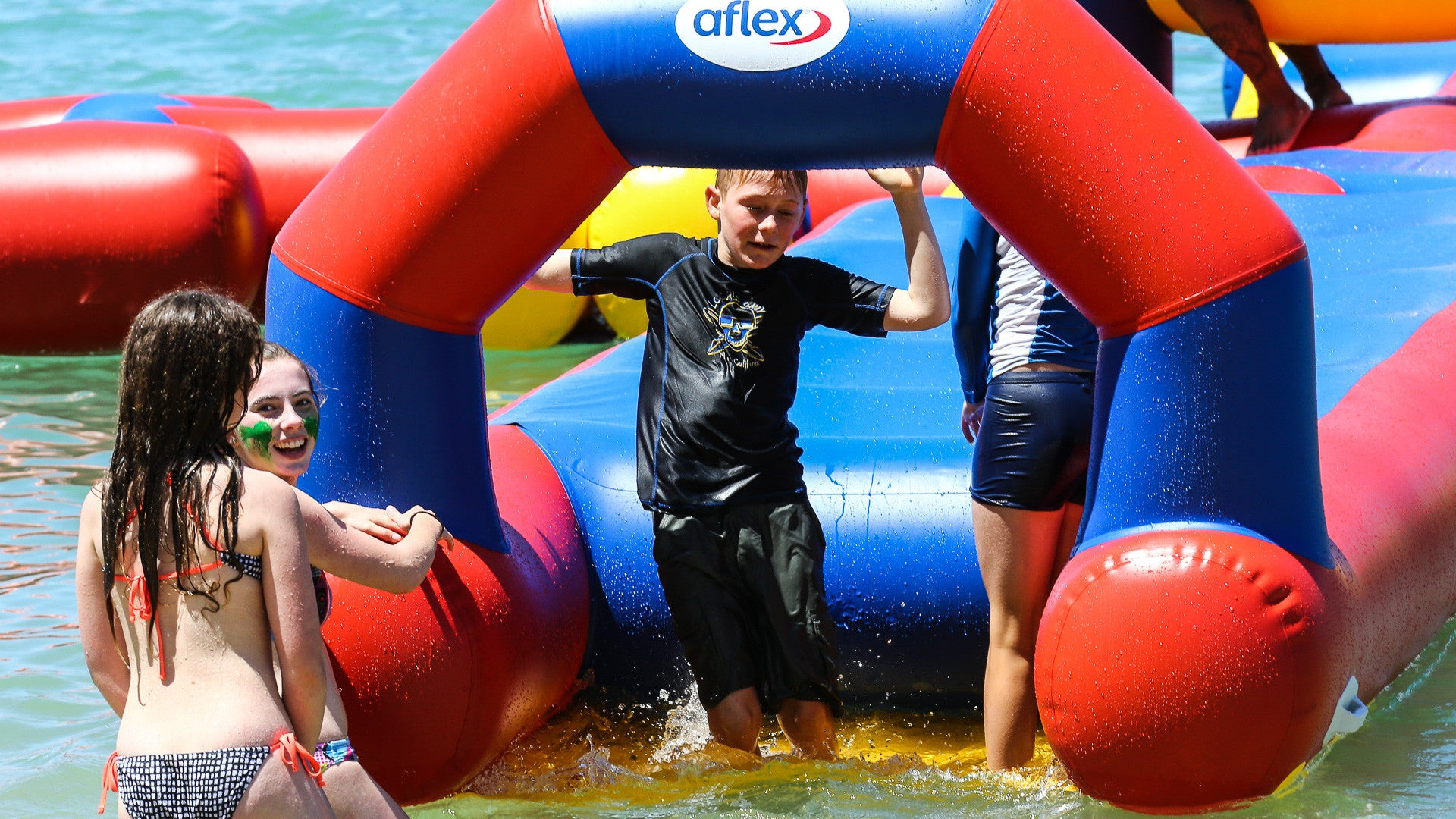Open Water Inflatable Aqua Park Entry Pad - Aflex Technology