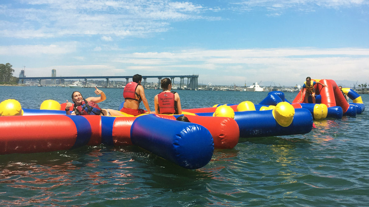 Aqua Adventure 'Star Path' Inflatable Waterpark - Open Water Aqua Adventure, Pools Aqua Adventure - Aflex Technology