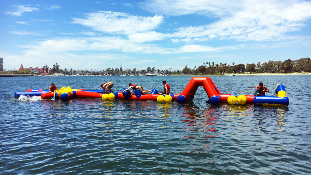 Aqua Adventure Star Path Inflatable Waterpark - Open Water Aqua Park - Aflex Technology