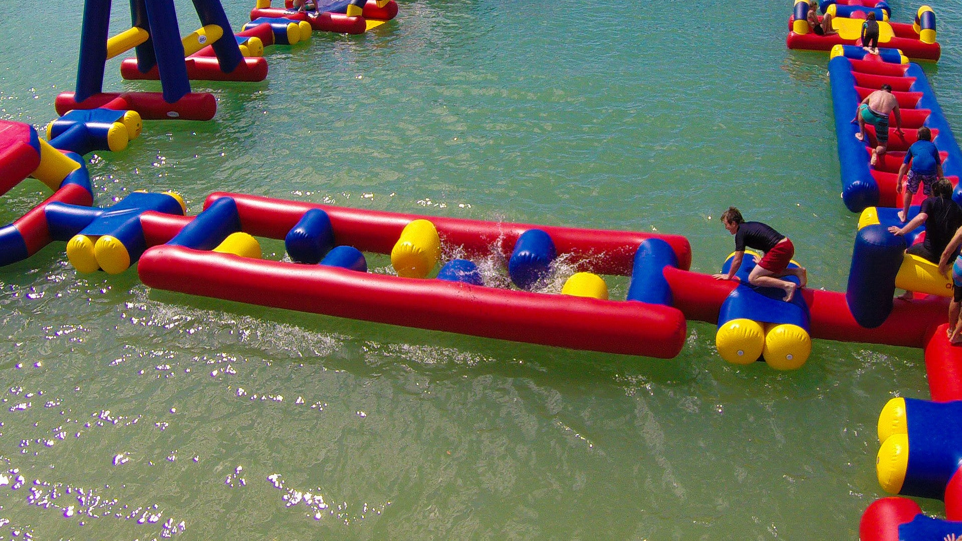 Open Water Inflatable Aqua Park Split Ladder - Aflex Technology - Aqua Adventure Series