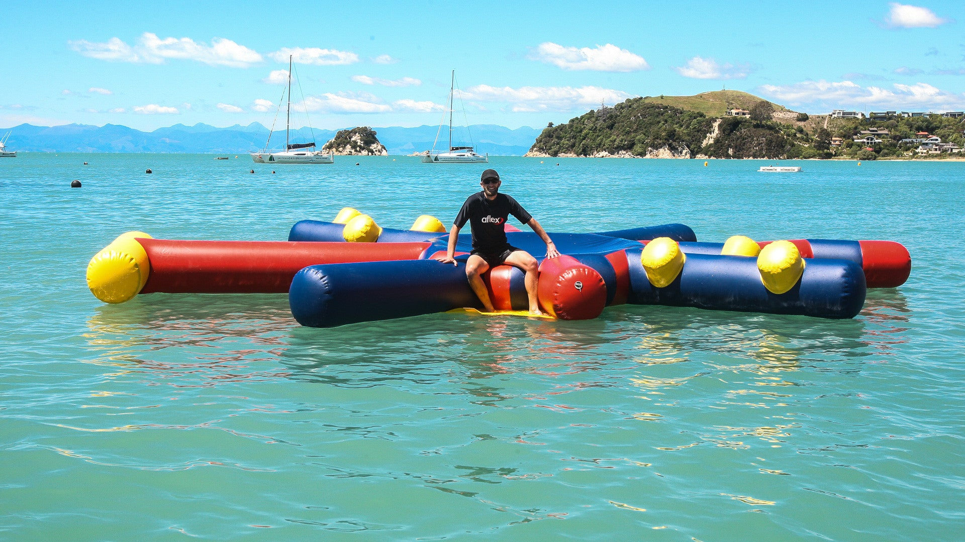 Open Water Inflatable Aqua Park Star Raft - Aflex Technology - Aqua Adventure Series