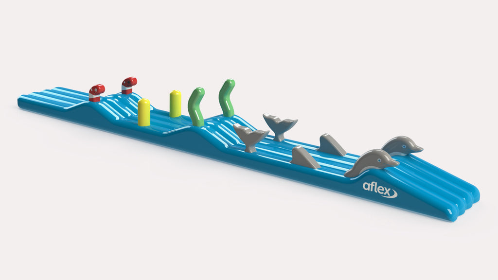 Surf Dolphin with Slide - Constant Airflow Obstacle Courses - Aflex Technology