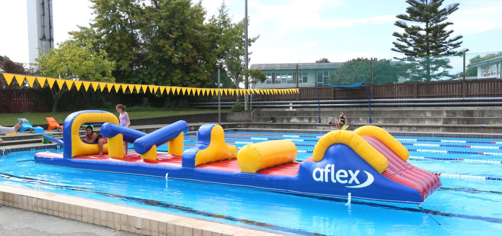 A Wet Entry Option - Constant Airflow Obstacle Courses - Aflex Technology