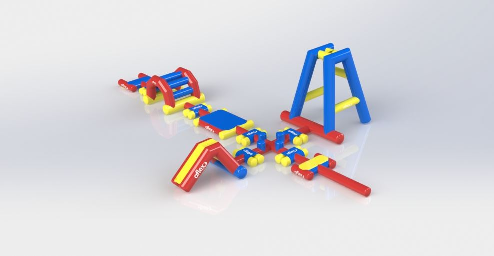 Triple Track - Pools Aqua Fun - Aflex Technology