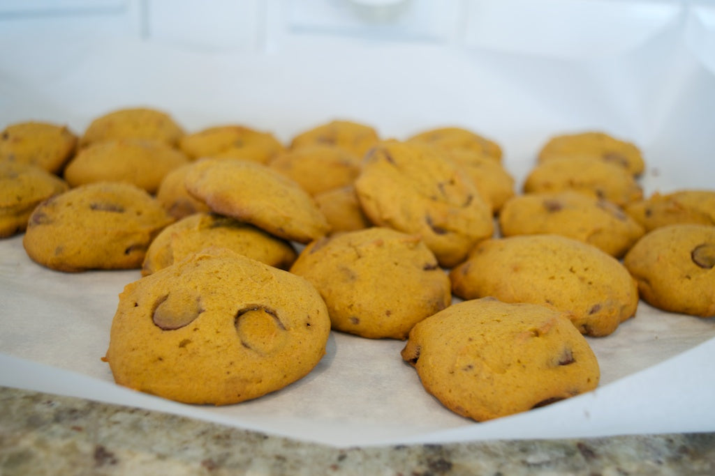 Pumpkin Chocolate Chip Cookies - Gilded Glamour