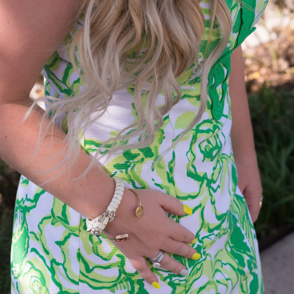 Lilly Pulitzer Green Floral Dress - Gilded Glamour