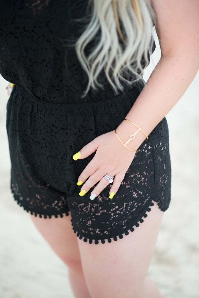 Gilded Glamour Turks & Caicos Target Romper