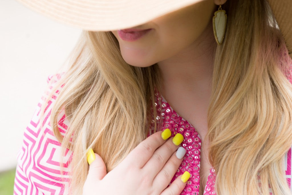 Gilded Glamour-Old Navy Beach Wear with a Little Added Pizzazz (4 of 7)