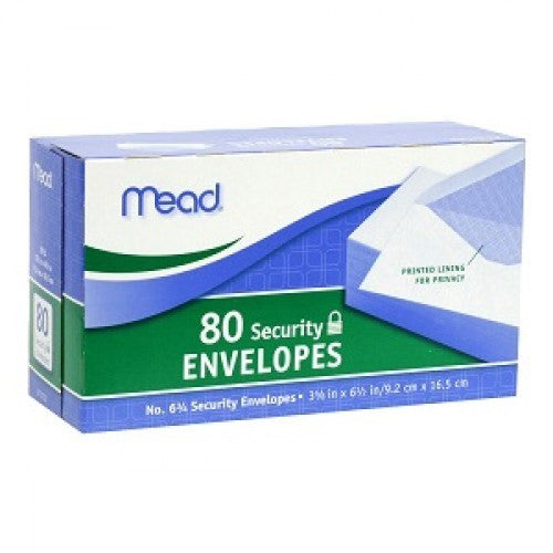 Mead 80 Security Envelopes