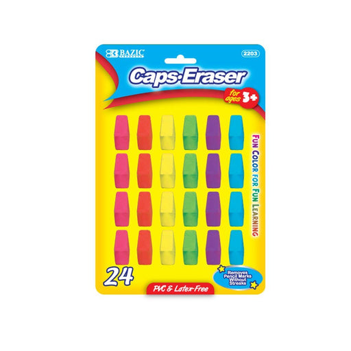 Bazic, Neon Eraser Top 24 pcs